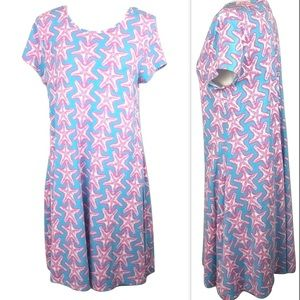 crown & ivy Dresses - Crown & Ivy Beach Starfish Print Swing Dress